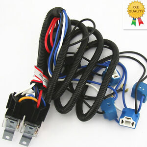 h4 headlight ceramic relay wiring harness 4 headlamp light
