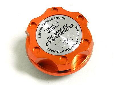 ORANGE SUPERCHARGED BILLET RACING ENGINE OIL FILLER CAP FOR NISSAN INFINITI
