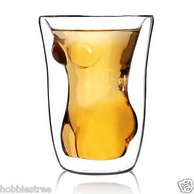 Crystal Glass Naked Women Cup Juice Mug Beer Stein Shot Glass Tumbler