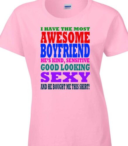 Shirt Gift for her Valentines Christmas Birthday Awesome Boyfriend Husband T