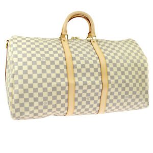 02e9a5e9b28d Image is loading AUTH-LOUIS-VUITTON-KEEPALL-55-BANDOULIERE-TRAVEL-HAND-
