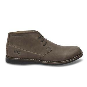 TBS Brown Leather Desert Boots UK 10.5 EU 45 gobi