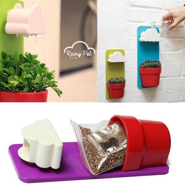 Creative Clouds Rainy Pot Wall-hung Flower Pot Yard Plants Home Decoration New