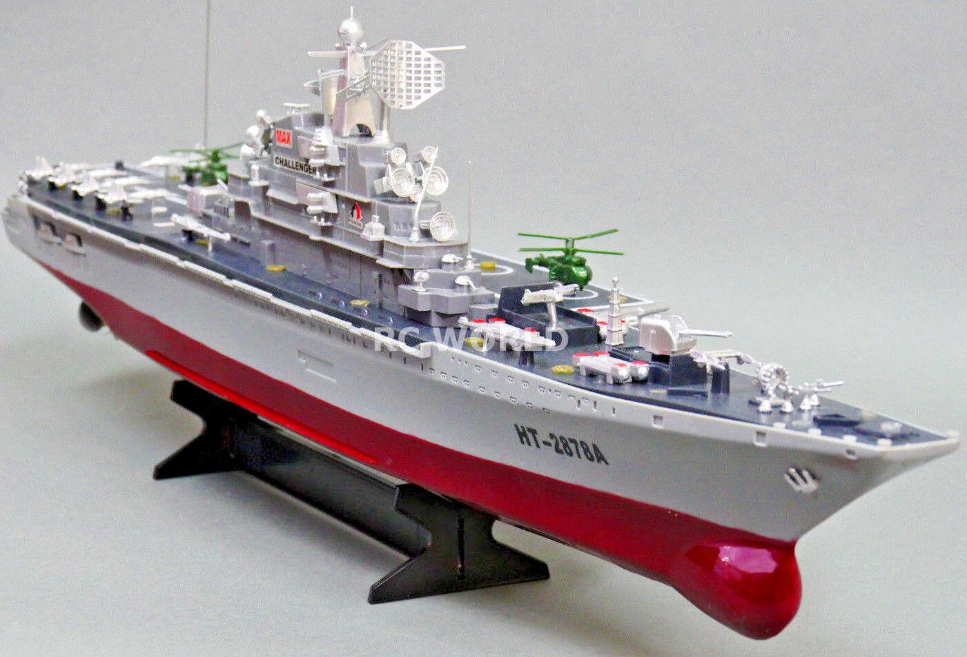 Barche Rc Blu Navy Radiocomando Aerei Porta Militare Nave 9.6V Doppie Motore Rtr