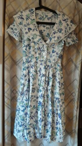 Vintage 1950-60's Floral Wrap Day Dress