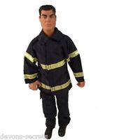 Girls Toy Doll Barbie Dress Ken Fireman Firefighter Costume Outfit Set Bc26