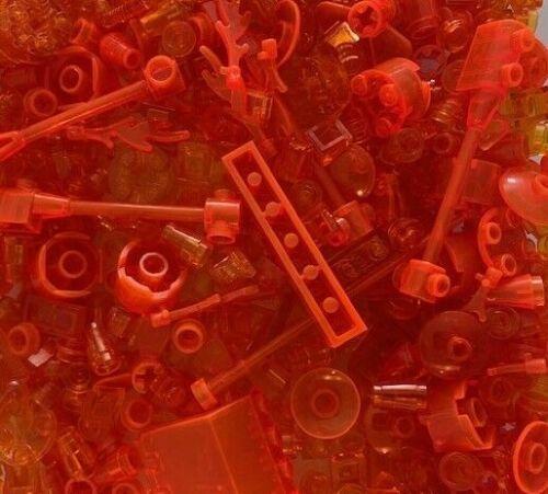 RANDOM SELECTION LEGO 100 TRANSPARENT PIECES FROM BULK CHOICE OF COLOR /& QTY