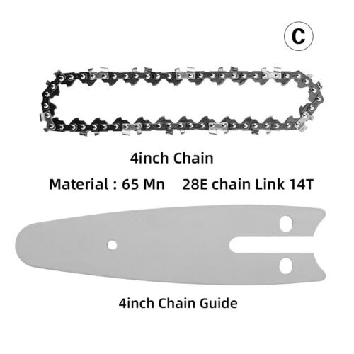 4 inch Steel Chainsaw Chain//Guide Electric Replacement Chains Woodworking Cutter