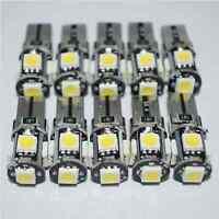 T10 White Led Canbus Error Free 5 SMD Car Side Wedge light Bulb 168 194 W5W
