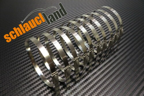 10 Kabelbinder***Heat Wrap Turbo 10m Fiberglas Hitzeschutzband 50mm rot 800°C