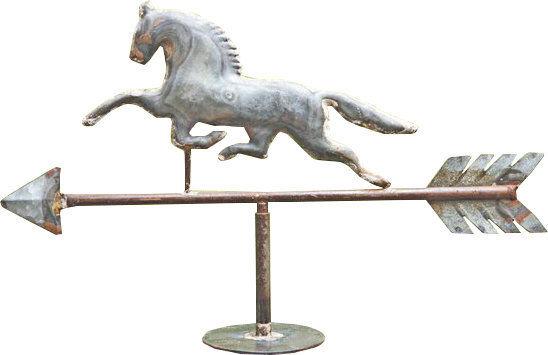 Gracie Oaks Weathervane Horse Figurine