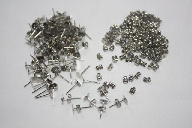 11mm Stainless Steel stud earring metal flathead posts pin backs Blank DIY Craft