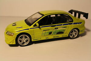 ERTL FAST AND FURIOUS BRIAN'S 2002 MITSUBISHI LANCER EVOLUTION VII