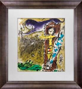 Marc-CHAGALL-LITHOGRAPH-Limited-Edition-ORIGINAL-034-Christ-in-the-Clock-034-1957