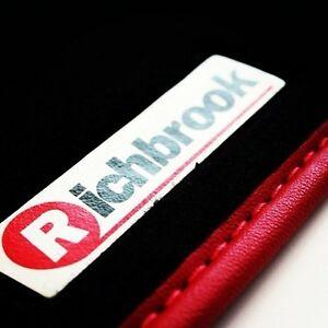 Ajuste-Perfecto-Richbrook-Auto-Negro-Mate-Para-Alfa-Romeo-166-99-05-Rojo-Ribete-En-Piel