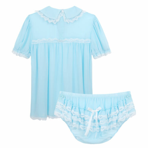 Mens Sissy G-string Skirt Panty Dress Underwear Brief Lingerie Nightwear Pajamas