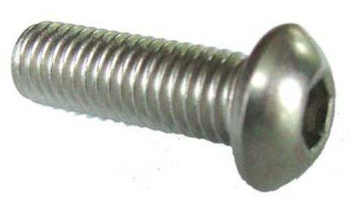1//4 x 1 1//4 unc acier inoxydable bouton tête 1//4-20 x 1 1//4 unc ronde Champignon Boulon X10