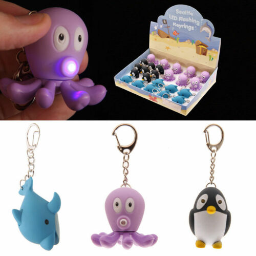 Funny Animal Bird LED Light /& Sound Keyring-20 Styles to Choose Cute Novelty