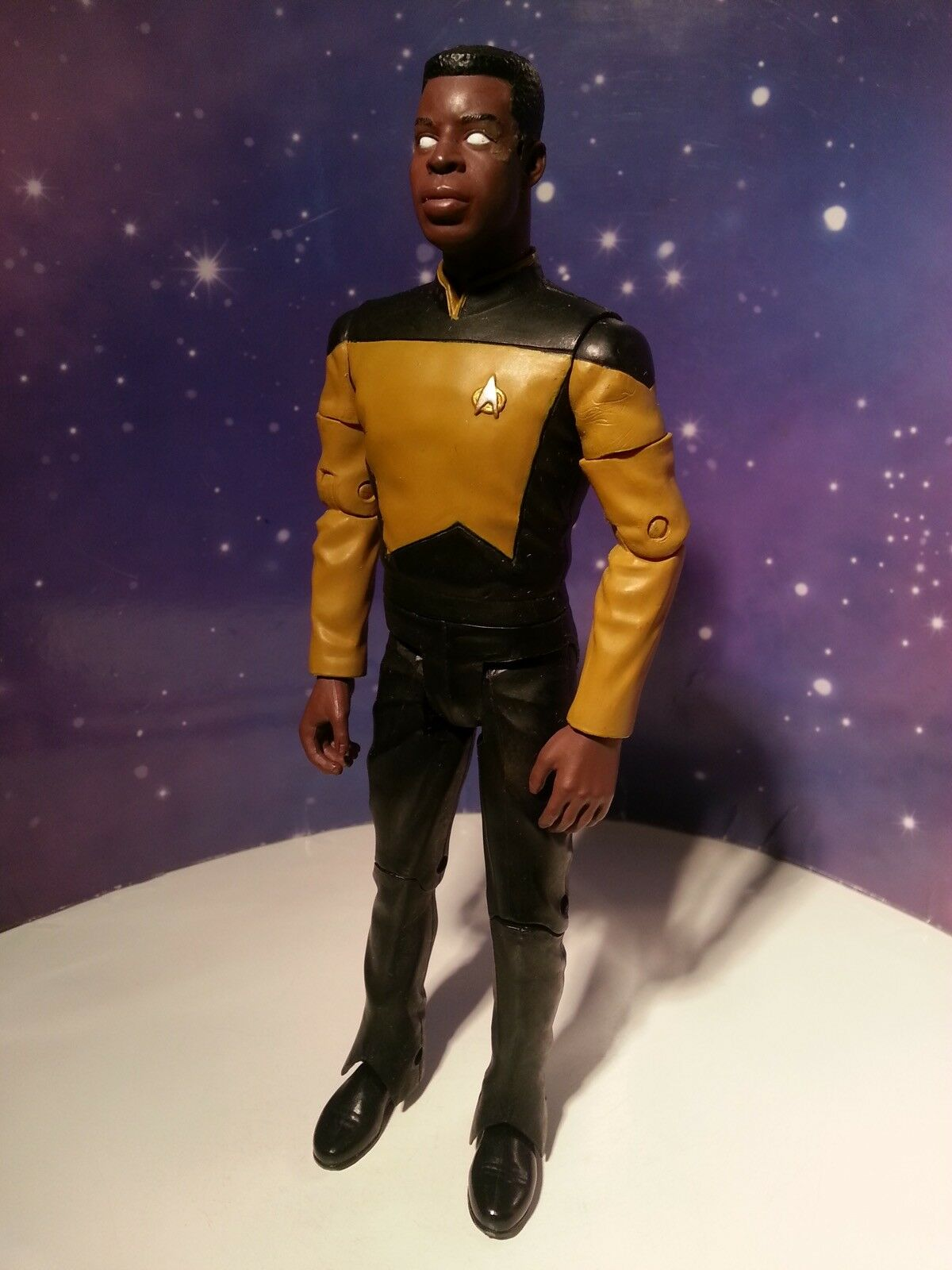 "STAR TREK GEORDI LA FORGE NO VISOR VERSION TNG UNIFORM DIAMOND SELECT 8"" FIGURE"