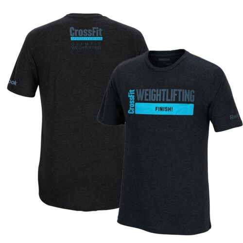 "Reebok CrossFit Specialty Course /""Weightlifting/"" Men/'s Black Premium T-Shirt"