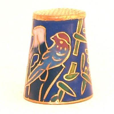 Besorgt 1 Fingerhut Vögel Pflaumenblüte 857.bl Cloisonné 24ct Ver-goldet Thimble Birds Verschiedene Stile