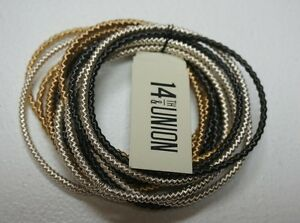 NEW-14TH-AND-UNION-NORDSTROM-RACK-MULTI-COLOR-BANGLE-STRETCHY-CHAIN-BRACELET