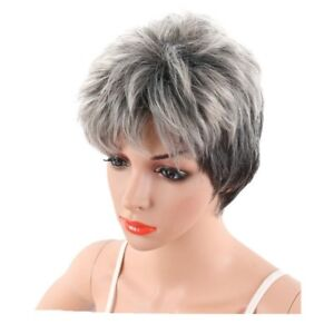 Women-Short-Grey-Pixie-Wig-Short-Curly-Hair-Synthetic-Pixie-Wig-Cosplay-HA2