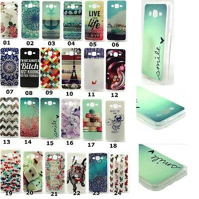 New Pattened TPU Gel Soft Case Cover For Samsung Galaxy Grand Prime G530H G5308W