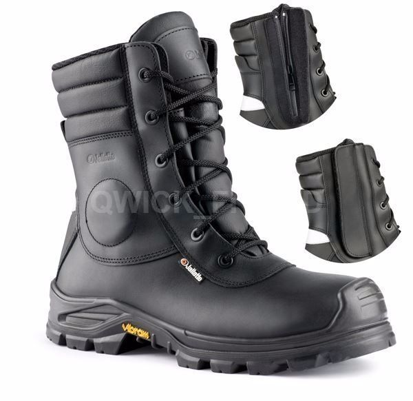 MENS LEATHER TACTICAL SAFETY WORK HI BOOTS HIKER ANKLE MILITARY ZIP STEELTOE CAP