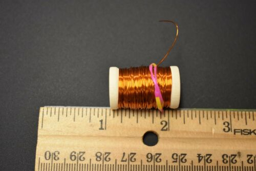 12 Yards 28 Gauge 1 COPPER Spool of Medium Copper Wire for Fly Tying