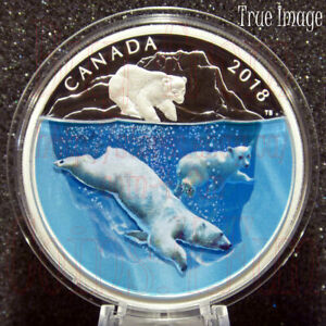 2018-Dimensional-Nature-Polar-Bears-30-2-OZ-Pure-Silver-Proof-Coin-Canada