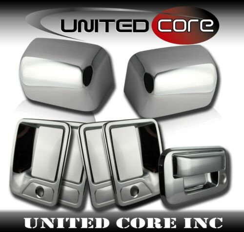 08-16 Ford Super Duty Chrome Mirror Cover Top Chrome Door Handle Tailgate Cover