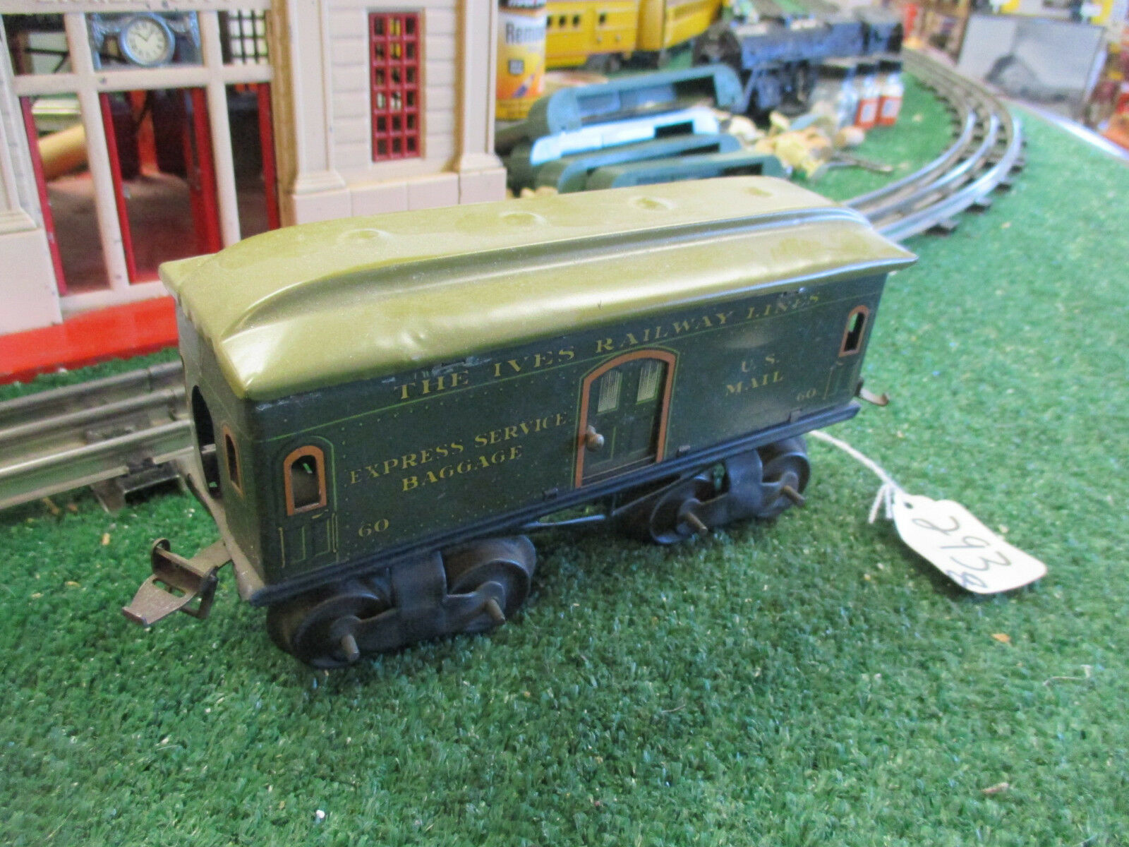 IVES PREWAR 60 IVES RAILWAY LINES EXPRESS SERVICE BAGGAGE CAR VG CONDITION
