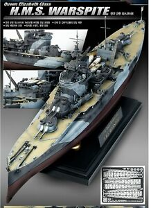 ACADEMY-1-350-Queen-Elizabeth-Class-H-M-S-WARSPITE-Plastic-Model-Kit-B14105