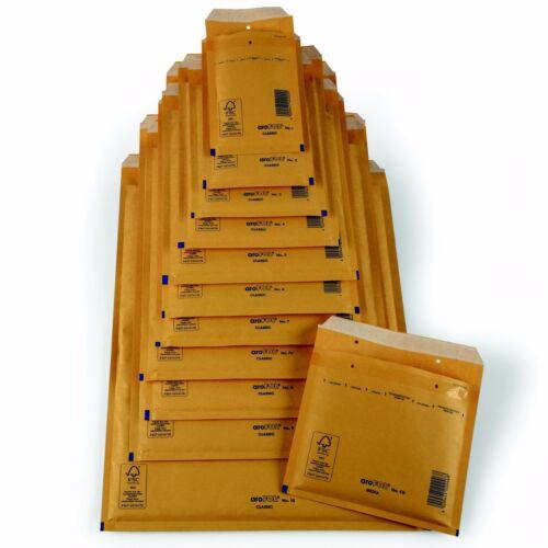 Luftpolster-Versandtaschen Arofol Gr.CD braun//goldgelb Luftpolstertaschen