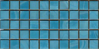 50pcs N52 Turquoise Blend Natura Opaque Glass Mosaic Tiles 15mmx15mmx4mm