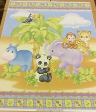 SPX Fabrics - Precious Moments - Cute Animal Panel  - 90cm x 112cm - 100% Cotton