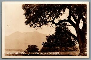Postcard-RPPC-c1920s-San-Diego-CA-Warner-Hot-Springs-View-of-Palomar-Mountains-A