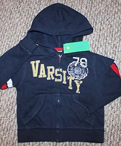 ce45e7a9 Details about New! Boys Greendog Jacket Hoodie (Sweatshirt, Blue, Varsity;  Macy's) - Size 2T
