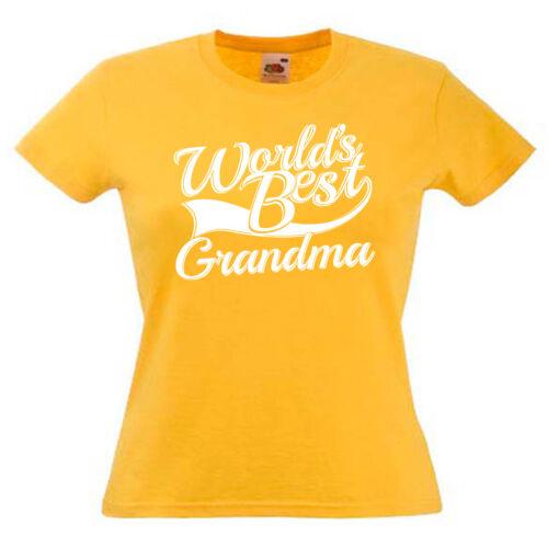 World/'s Best Grandma Gift Womens Ladies Lady Fit T Shirt