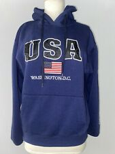 💙💙Washington DC Navy USA Sweatshirt Hoodie Embroidered Letters Unisex 💙💙
