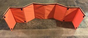 PetCarrier-Grooming-Station-Foldable-Screen-80-034-x-20-034-Orange-New