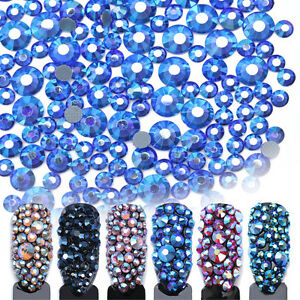 Nail-Rhinestone-3D-Decoration-Flat-Bottom-Multi-size-Colorful-Manicure-Decor-DIY