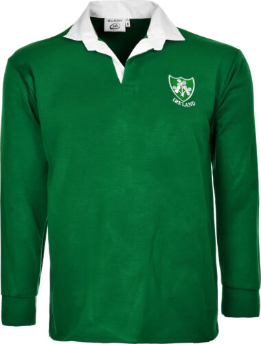 5XL Ireland Rugby Shirt Retro Classic Traditional Irish Top All Sizes S
