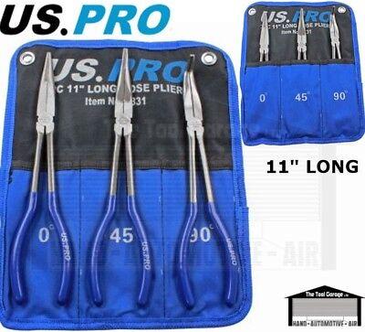 US PRO Tools 4pc 285mm Long Reach Nose Pliers Plier Set New 2093