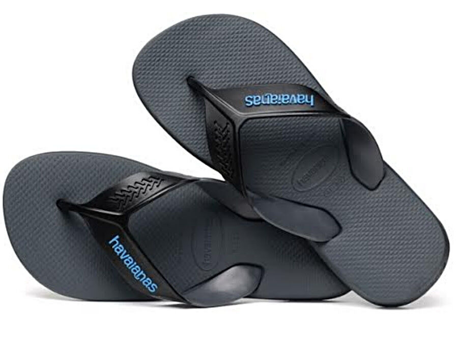 Havaianas Men`s Brazilian Flip Flops Dynamic Sandals Dark Grey Any Size NWT