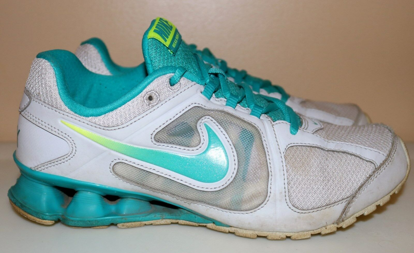 Nike 8 Reax Run 8 Nike Training Running 599562-011 Women Size 7.5 Turquoise Blue 9f3089