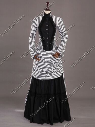 Victorian Dresses | Victorian Ballgowns | Victorian Clothing    Victorian Steampunk Mary Poppins Dress Beetlejuice Adult Halloween Costume 139 $165.00 AT vintagedancer.com