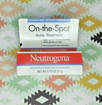 Neutrogena On The Spot Acne Cream 0 75 Oz Exp 10 21 70501017906