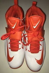 791ecf57d53 New Nike Flywire Lineman 3 4 TD Football Cleats White Orange Men s ...